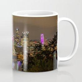 Pittsburgh Skyline Pink Cancer awareness Coffee Mug