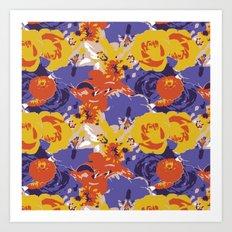 Retro Floral Art Print