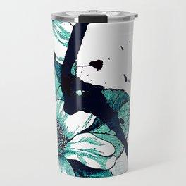 Autumn flowers in blue Travel Mug