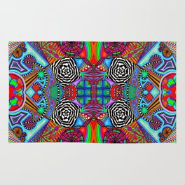 Red Universe Rug