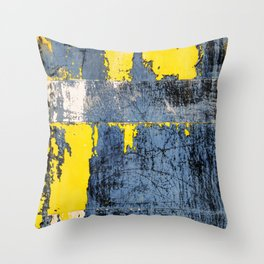 Derelict Metal Throw Pillow