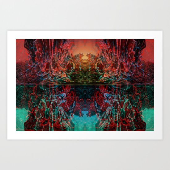 The Lake of Pure Mind Art Print