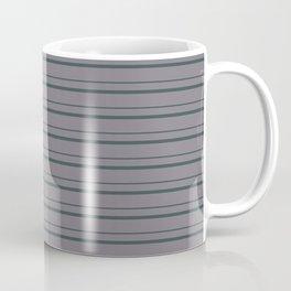 Night Watch PPG1145-7 Horizontal Stripes Pattern 3 on Magic Dust Muted Purple PPG13-24 Coffee Mug