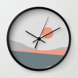 Abstract Landscape 01 Wall Clock