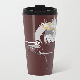 White Girl on Dark Brown Travel Mug
