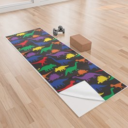 Dinosaurs - Black Yoga Towel