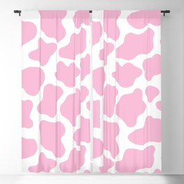 Pink Cow Print Blackout Curtain