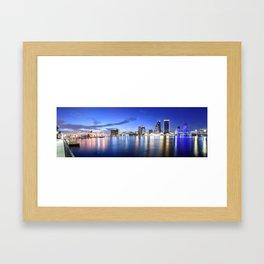 Jacksonville Skyline Panorama Framed Art Print