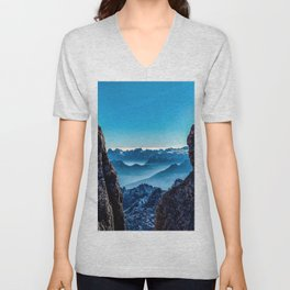 Moutain sky ice blue Unisex V-Neck