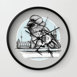 Berlin Sparrow Wall Clock