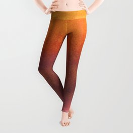 Copper, Pink and Orange Abstract Leggings