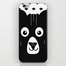 Black and White Bear iPhone Skin