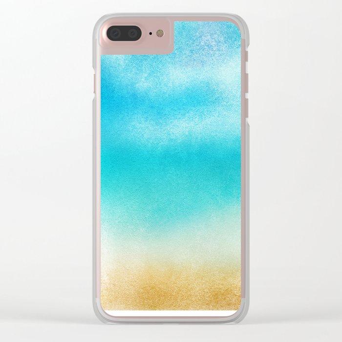 Tropical Sea #5 Clear iPhone Case
