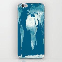 World Map Teal iPhone Skin