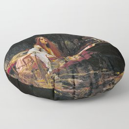 John William Waterhouse - The Lady of Shalott Floor Pillow