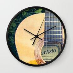 Artista Guitar Wall Clock