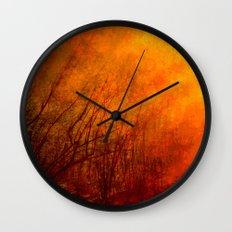 The burning world Wall Clock