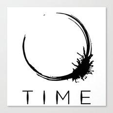 Arrival - Time Black Canvas Print