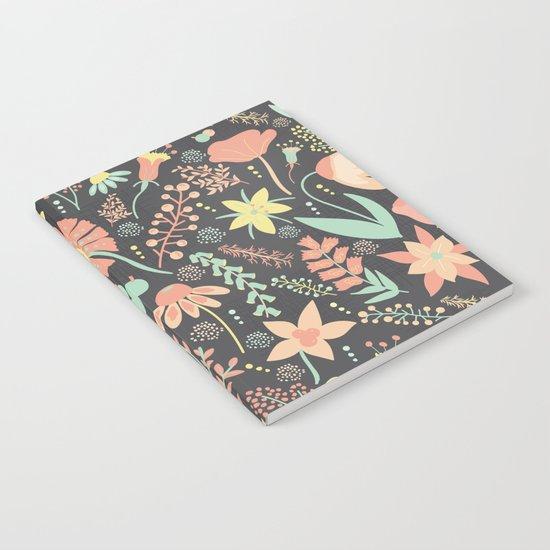 Peachy Keen Wildflowers Notebook