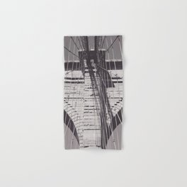 Brooklyn bridge details,  black & white architecture photography, new york city, NY,  city landscape Hand & Bath Towel