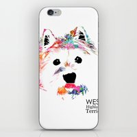 westie iPhone & iPod Skins featuring Max the Westie by free in the lines