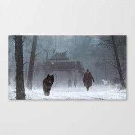 winter walk through the woods Canvas Print