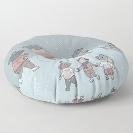 Iceskating mouses Floor Pillow