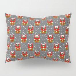 Christmas Snow Owl Pattern Pillow Sham