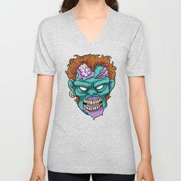 Zombie Horror Undead Gift Unisex V-Neck