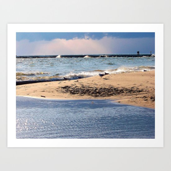 Mystical Beach Art Print