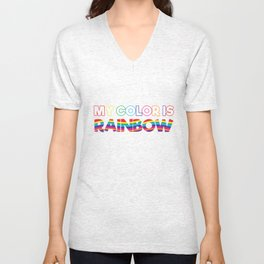My Color Is Rainbow Unisex V-Neck
