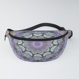 Purple Fox Flower Square Pattern Fanny Pack