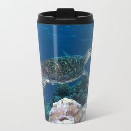 Hawksbill Sea Turtle on the Great Barrier Reef Travel Mug