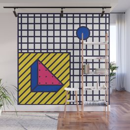 Festive Background in Neo Memphis Style Colorful Decorative pattern Wall Mural