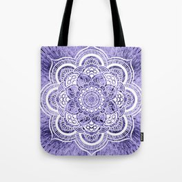 Mandala Lavender Colorburst Tote Bag