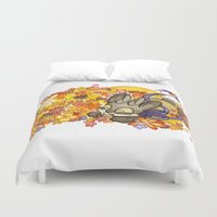 jackalope Duvet Covers featuring May Jackalope by JoJo Seames