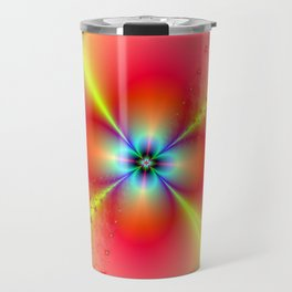 Floral Sprays in Red and Yellow Travel Mug