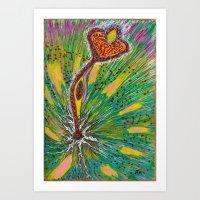Exploding Flower Art Print
