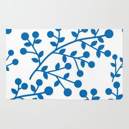 Blueberry Fields Forever - White Edition Rug