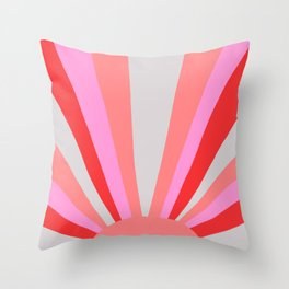 sunshine state, coral Throw Pillow
