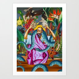 Saint Paul and the Eggs of Mantumbi Art Print