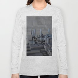Urban technology buildings space aerial view Long Sleeve T-shirt