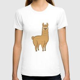 spit happens spit happens alpaca lama camel T-shirt