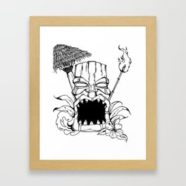 Angry Tiki Framed Art Print