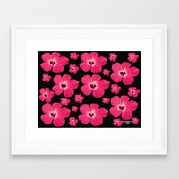 hibiscus Framed Art Prints featuring Hibiscus   by maggs326