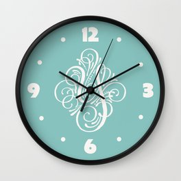 Letter Y Calligraphy Wall Clock