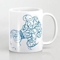 aquarius Mugs featuring Aquarius by Rebelot