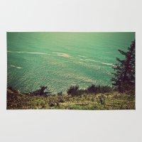 west coast Area & Throw Rugs featuring West Coast  by Hannah Kemp