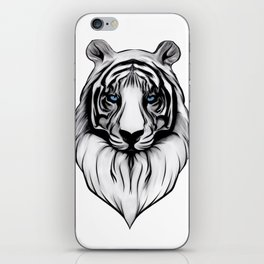 White Tiger with Blue Eyes iPhone Skin