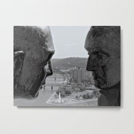Washington & Guyasuta Metal Print